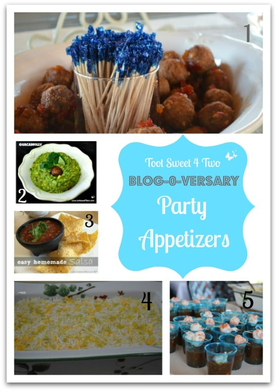 Toot Sweet 4 Two Blog-o-versary Party Appetizers