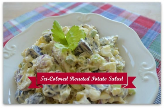 Tri-Colored Roasted Potato Salad