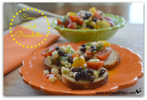 Corn Salad Bruschetta