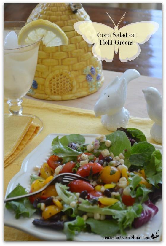 Corn Salad on Field Greens Pinterest