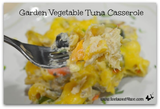 Garden Vegetable Tuna Casserole close-up