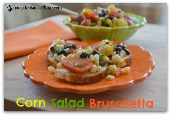 Mexican Corn Salad Bruschetta