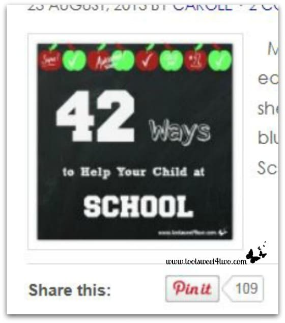 42 Ways to Help Your Child at School - Pinterest Pins