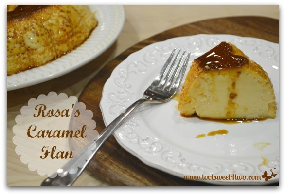 A slice of Rosa's Caramel Flan