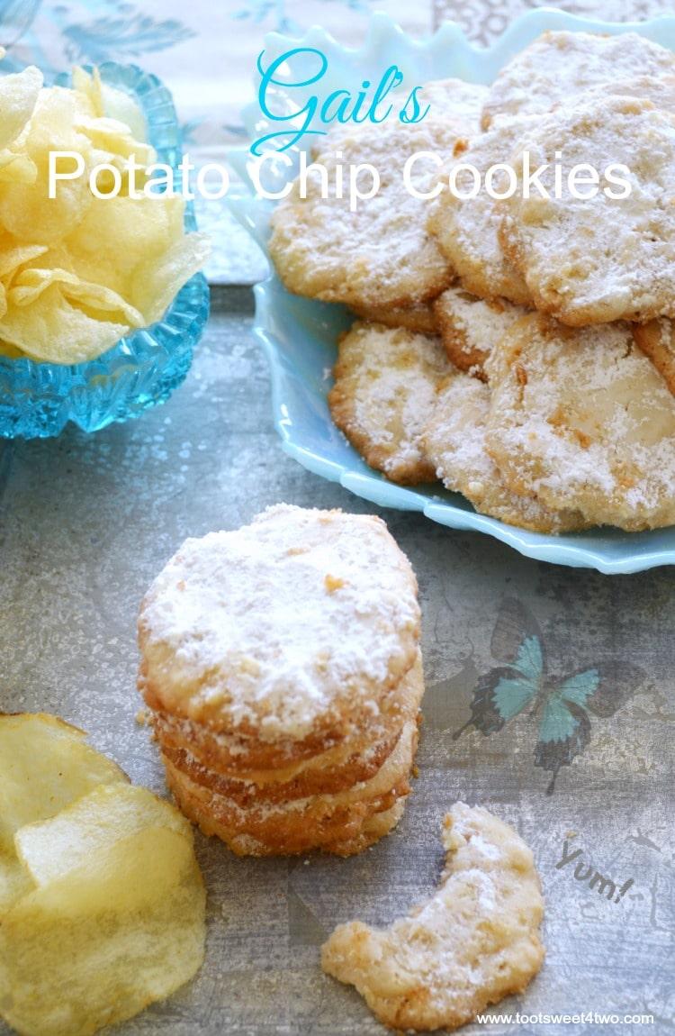 Gail's Potato Chip Cookies top view