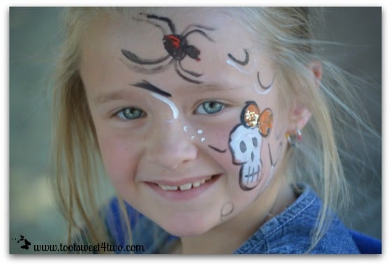 Happy Princess P with her painted face