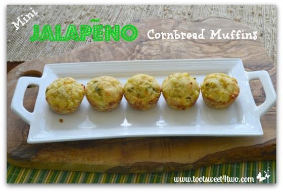 Mini Jalapeno Cornbread Muffins plated