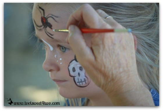Princess P gets her face painted