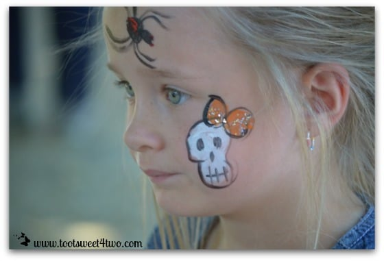 Princess P's face-painting almost done