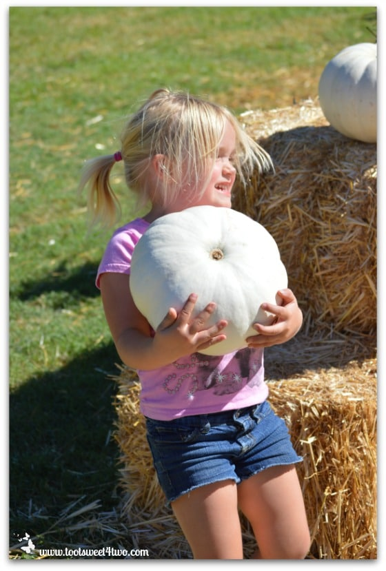 Princess Sweetie Pie and her white pumpkin
