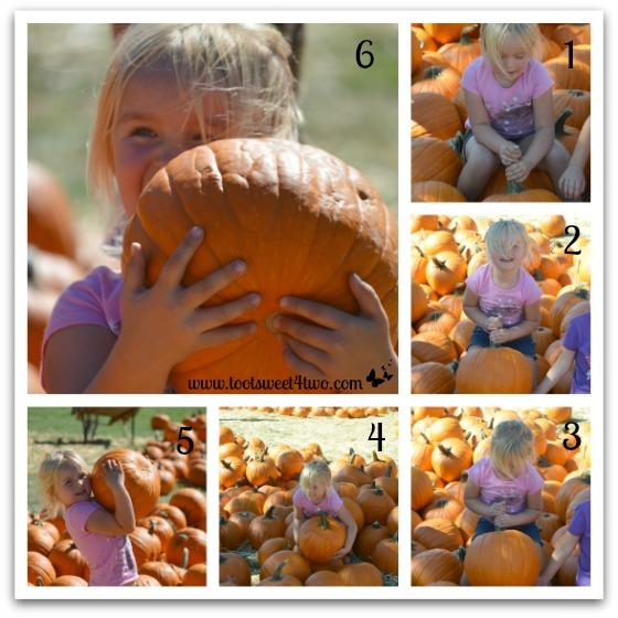 Princess Sweetie Pie lifts a pumpkin