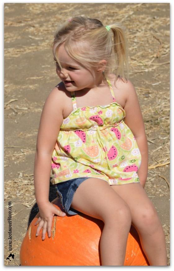 Princess Sweetie Pie on her pumpkin throne
