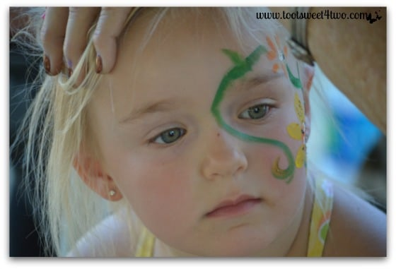 Princess Sweetie Pie's face-painting almost done