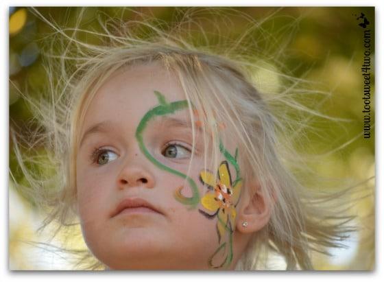 Princess Sweetie Pie's hair blowing in the wind