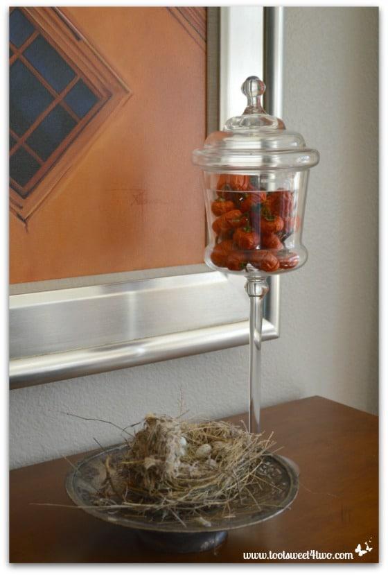 Pumpkin Tree fruit in a glass jar