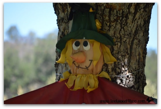 Scarecrow with carrot nose