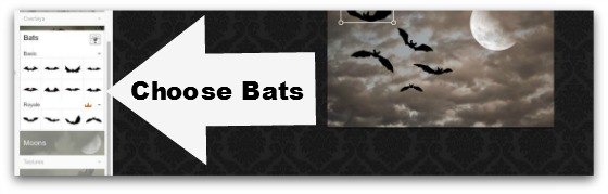 Step #11 - Choose Bats on Overlays