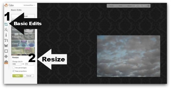 Step #4 - Resize your photo