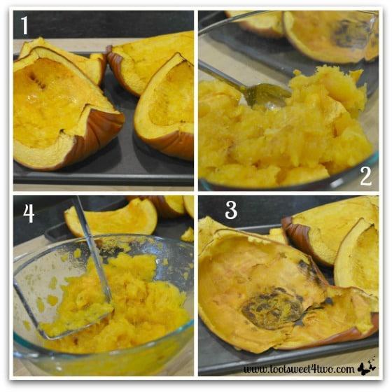 Baking pumpkin for Creamy Pumpkin Soup