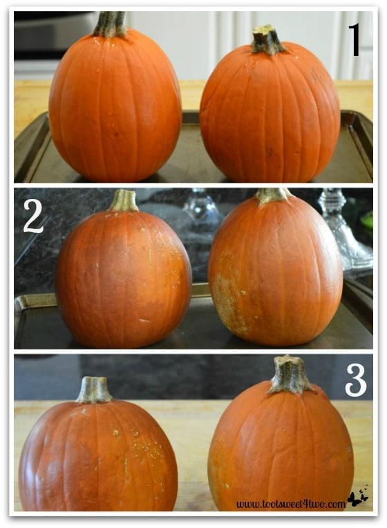 Baking the Pie Pumpkins