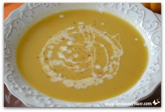 Creamy Pumpkin Soup close-up