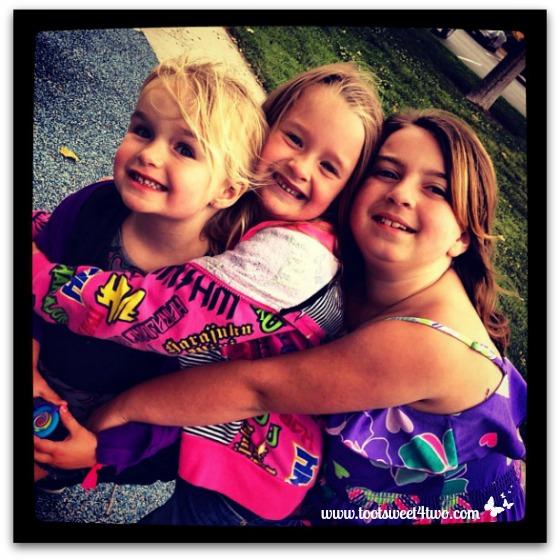 Group hug - Princess Sweetie Pie, Princess P and Princess Sweet Nature