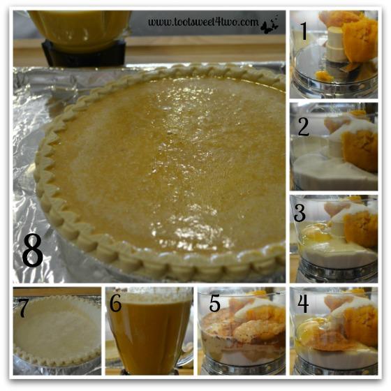 Making the pumpkin puree