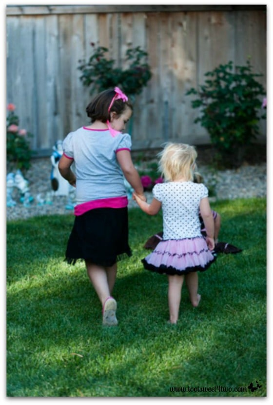 Princess Sweet Nature playing with her cousin, Princess Sweetie Pie