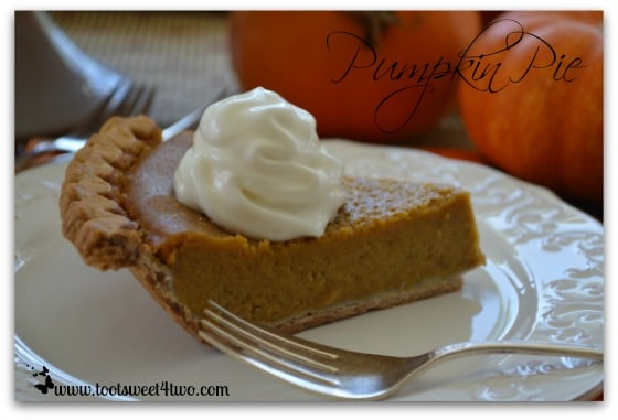Pumpkin Pie close-up with fork
