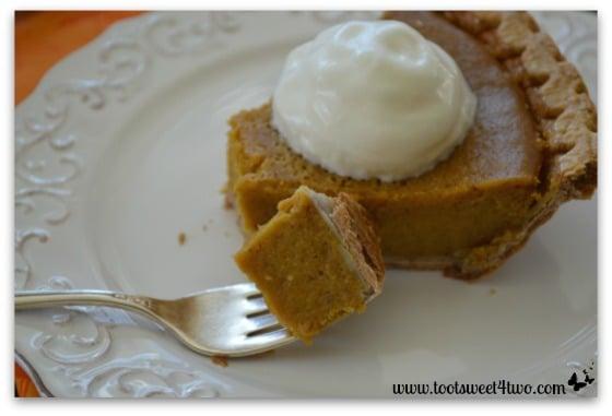 Pumpkin Pie on a fork
