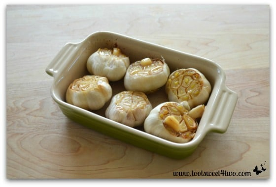 Roasted garlic out of the oven