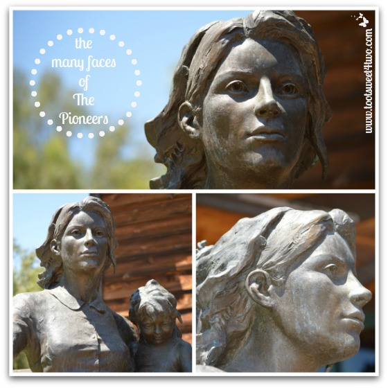 The many faces of The Pioneers sculpture