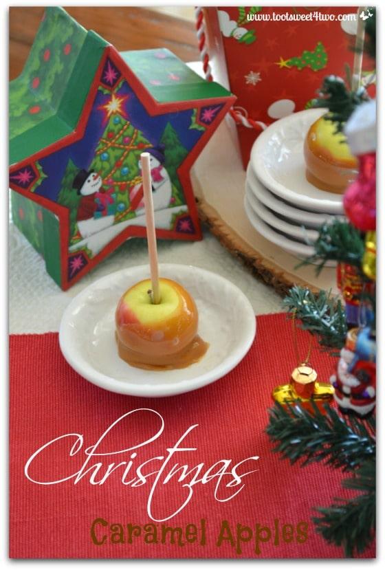 Christmas Caramel Apples for Pinterest
