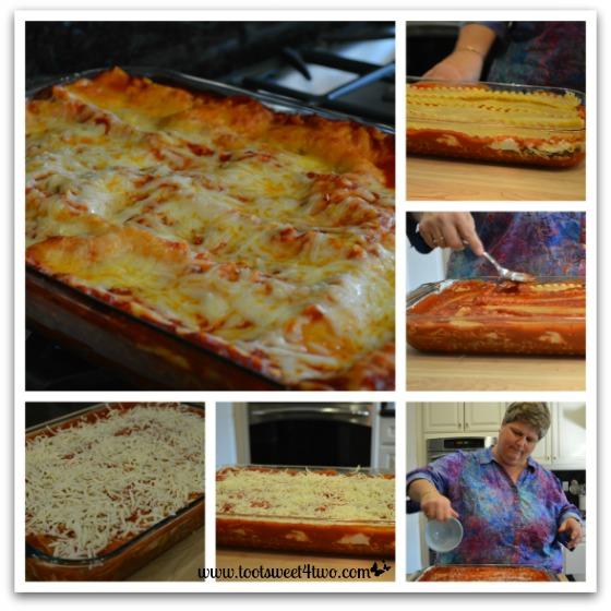 Final layers of Kathy's 16-Layer Lasagna
