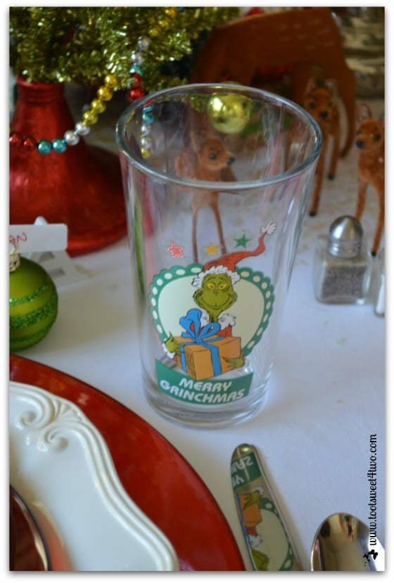 Grinch glasses for the kids