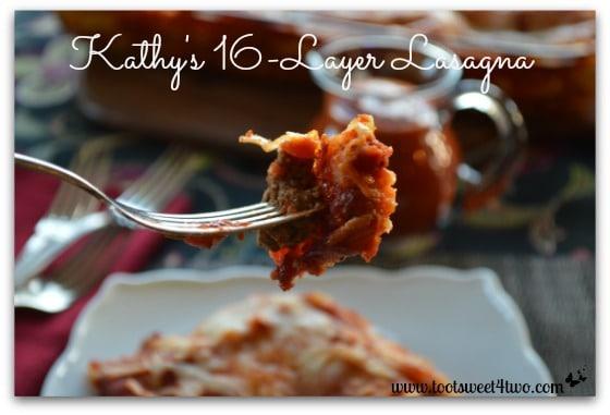 Kathy's 16-Layer Lasagna close-up