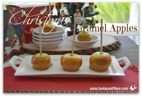 Little Christmas Caramel Apples