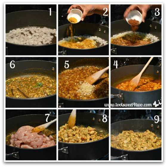 Making Sita's Curry Chicken