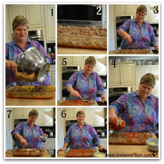 Next layers of Kathy's 16-Layer Lasagna