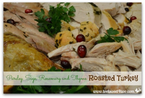 Parsley, Sage, Rosemary and Thyme Roasted Turkey close-up