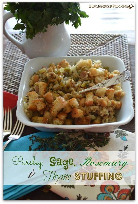 Parsley, Sage, Rosemary and Thyme Stuffing Pinterest