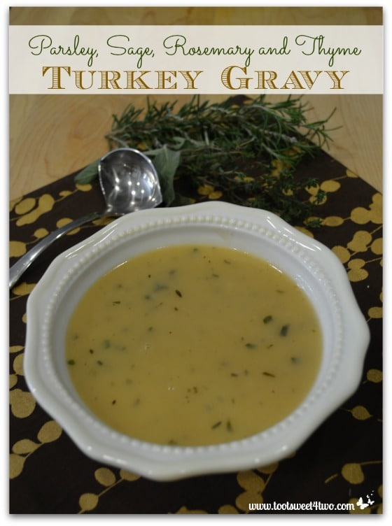 Parsley, Sage, Rosemary and Thyme Turkey Gravy