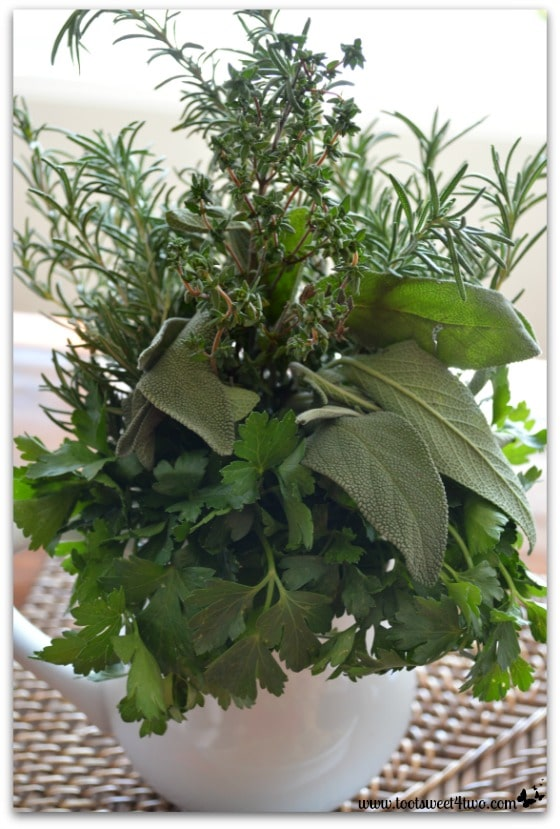 Parsley, Sage, Rosemary and Thyme bouquet