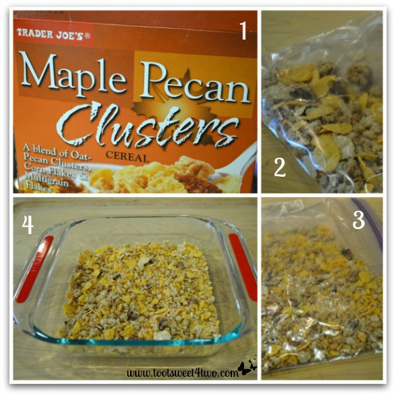 Preparing the Maple Pecan Clusters for French Toast