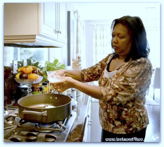 Sita making Curry Chicken