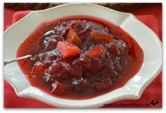 Sour Apple Cranberry Sauce close-up