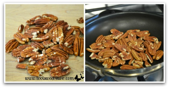 Toasting pecans for French Toast