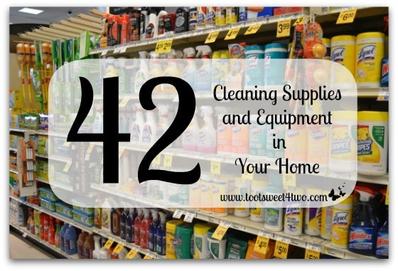 42 Cleaning Supplies and Equipment in Your Home