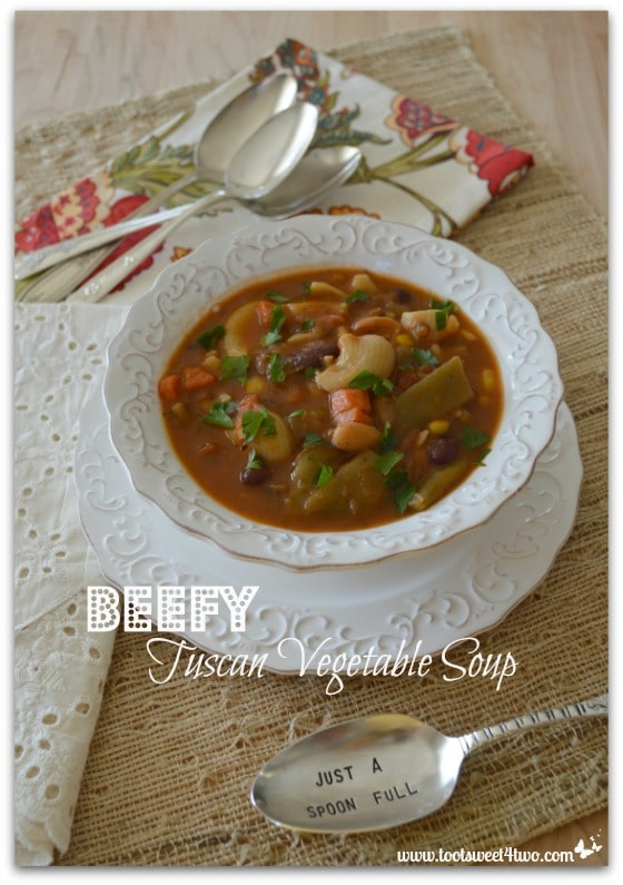 Beefy Tuscan Vegetable Soup Pinterest 2
