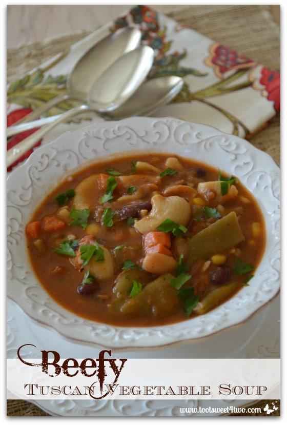 Beefy Tuscan Vegetable Soup Pinterest